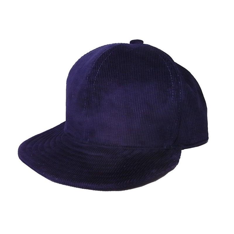 SNAP BACK CAP CORDUROY NAVY