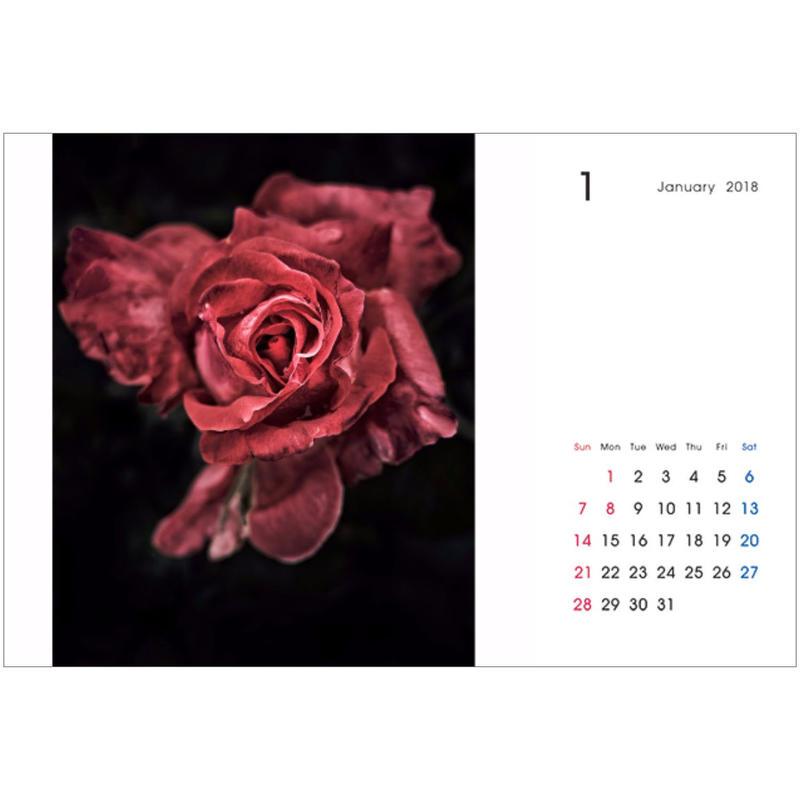 2018卓上カレンダー『ROSE』