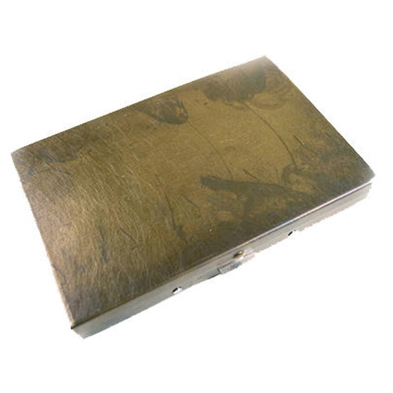 BRASS BOX CARDCASE+ RUST