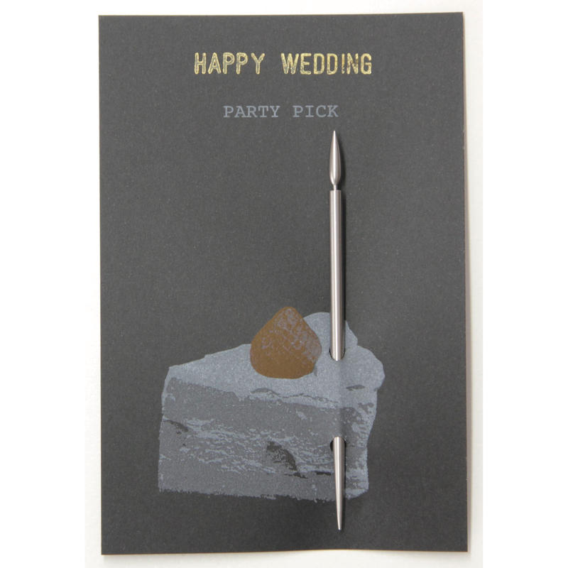 MESSAGE CANDLE PICK (HAPPY WEDDING)