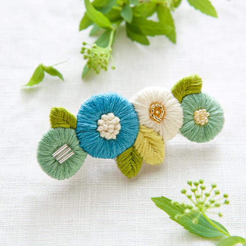 k.omono fioret hair accessory   ヘアクリップ  -blue-
