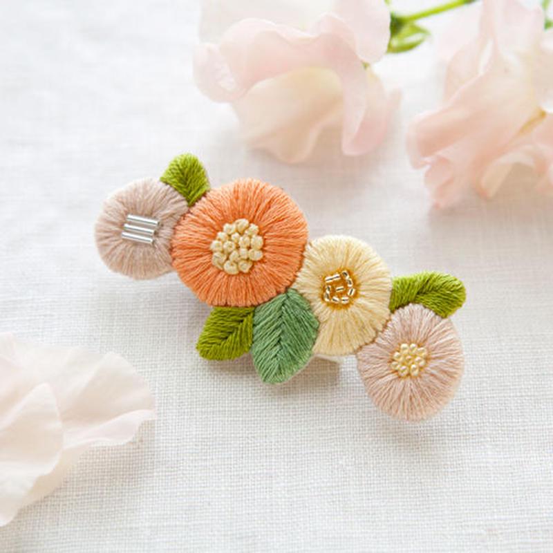 k.omono fioret hair accessory   ヘアクリップ  -orange-