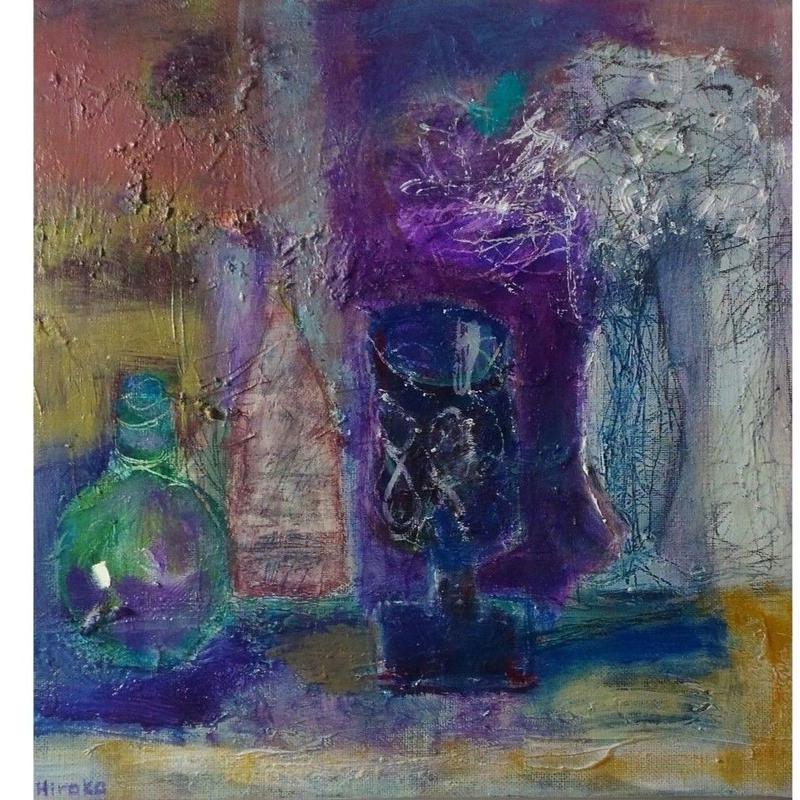 紫色のグラス  谷垣博子   2018年