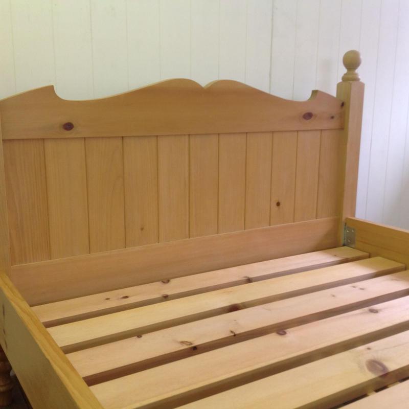 RUSTIC PINE BED セミダブルサイズ(特注サイズ)