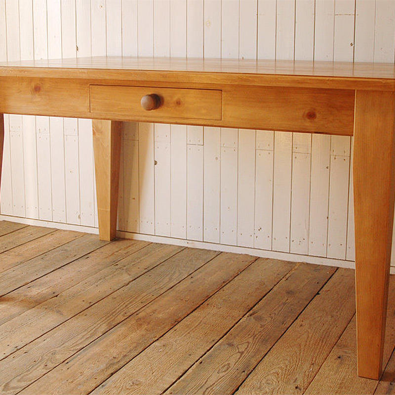 【sale限定発売】Rustic Pine Farmhouse Table -Taper leg- 幅1800