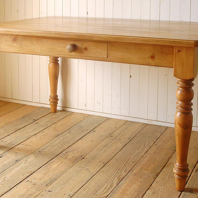 【sale限定発売】Rustic Pine Farmhouse Table -turn leg- 幅1800