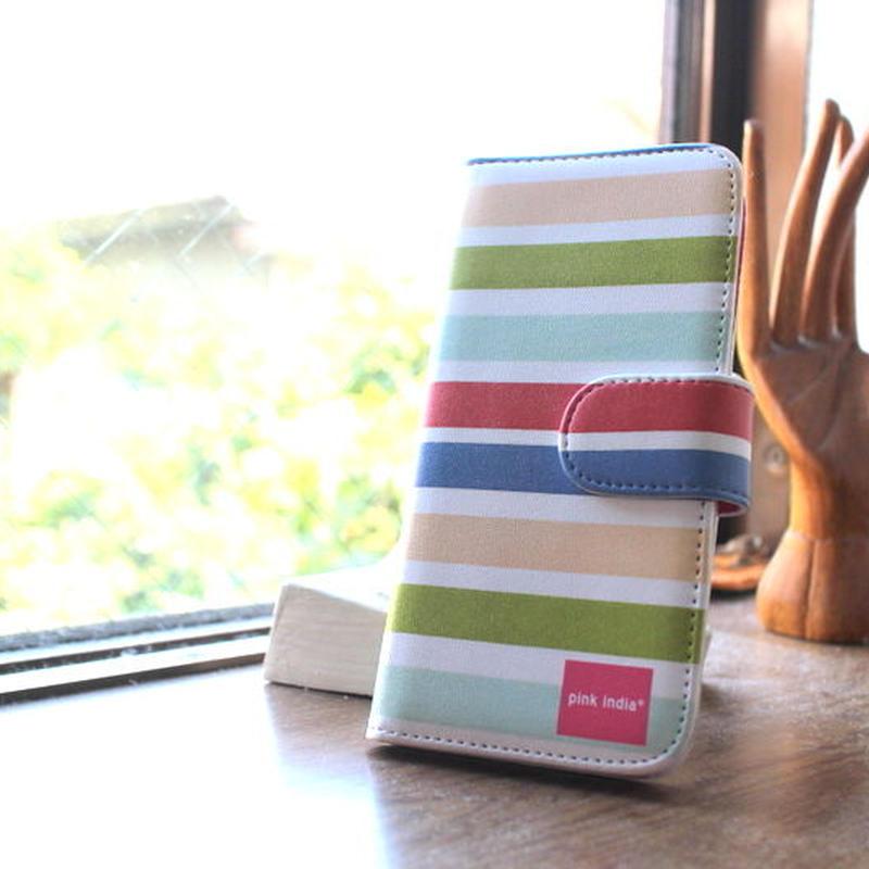 iphone6/6s 用手帳型ケース summer stripe