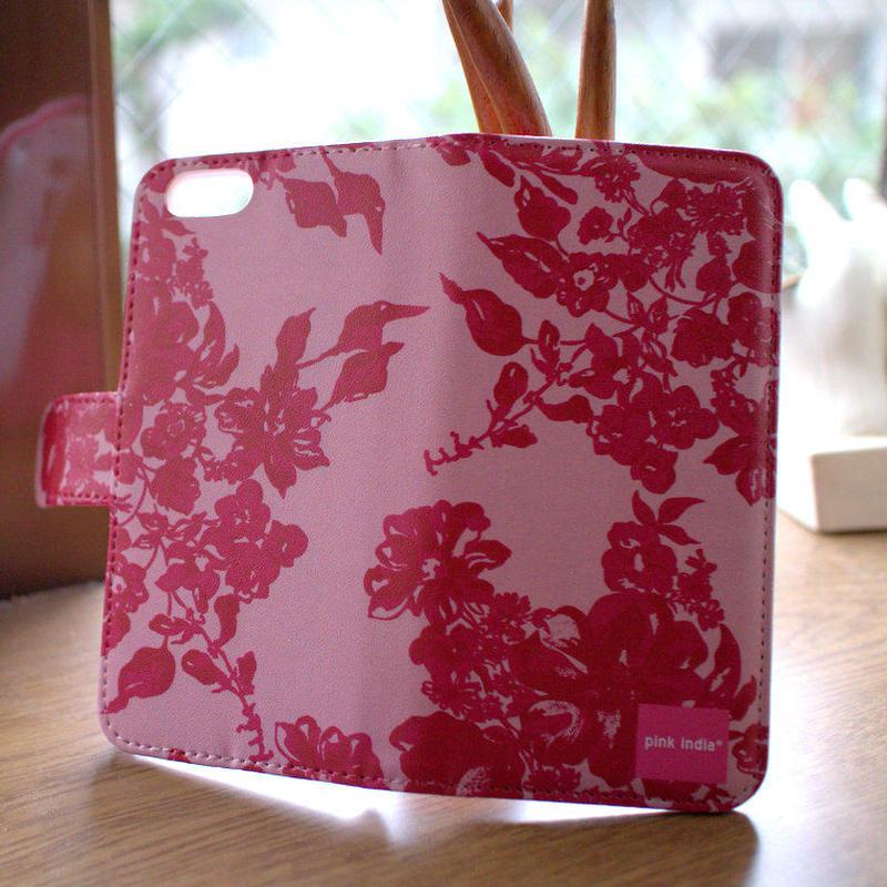 iphone5/5s 用手帳型ケース Stella pink