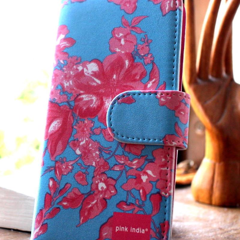 iphone5C用手帳型ケース North blue
