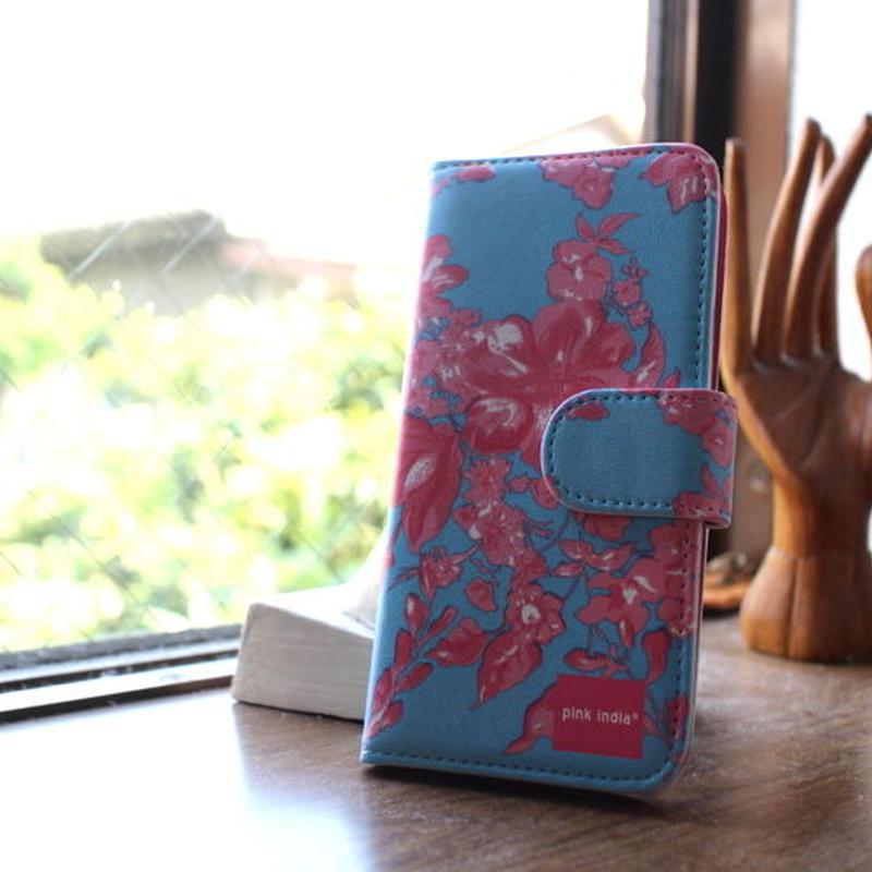 iphone5/5s 用手帳型ケース north blue