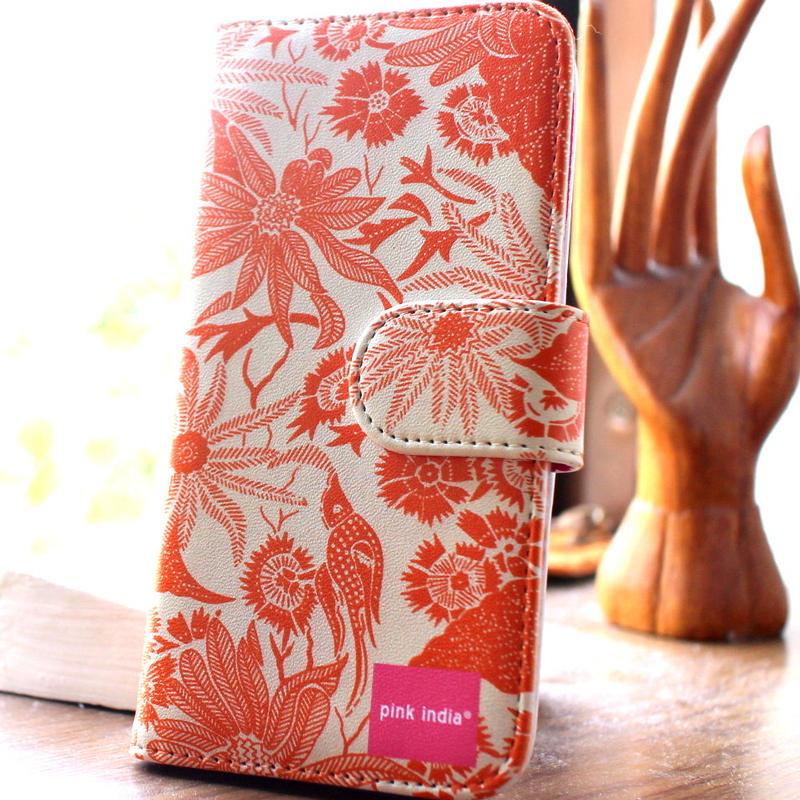 iphone6 plus/6s plus用手帳型ケース paradise orange