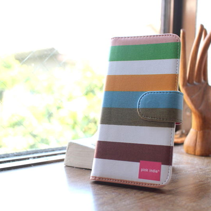 iphone5/5s 用手帳型ケース stripe1