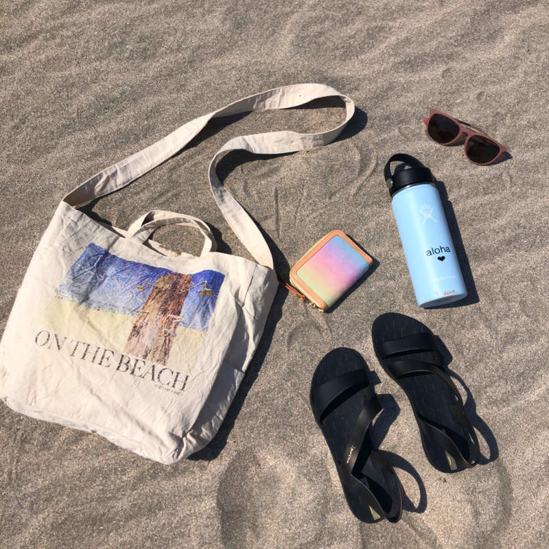 zuri on the beach tote bag