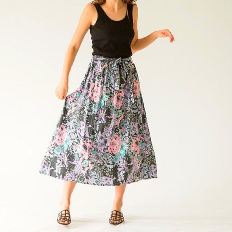 Dazzle Flower gather skirt