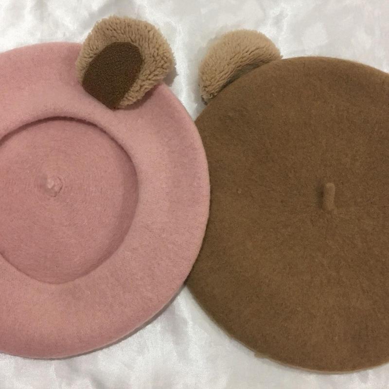 クマちゃんベレー帽