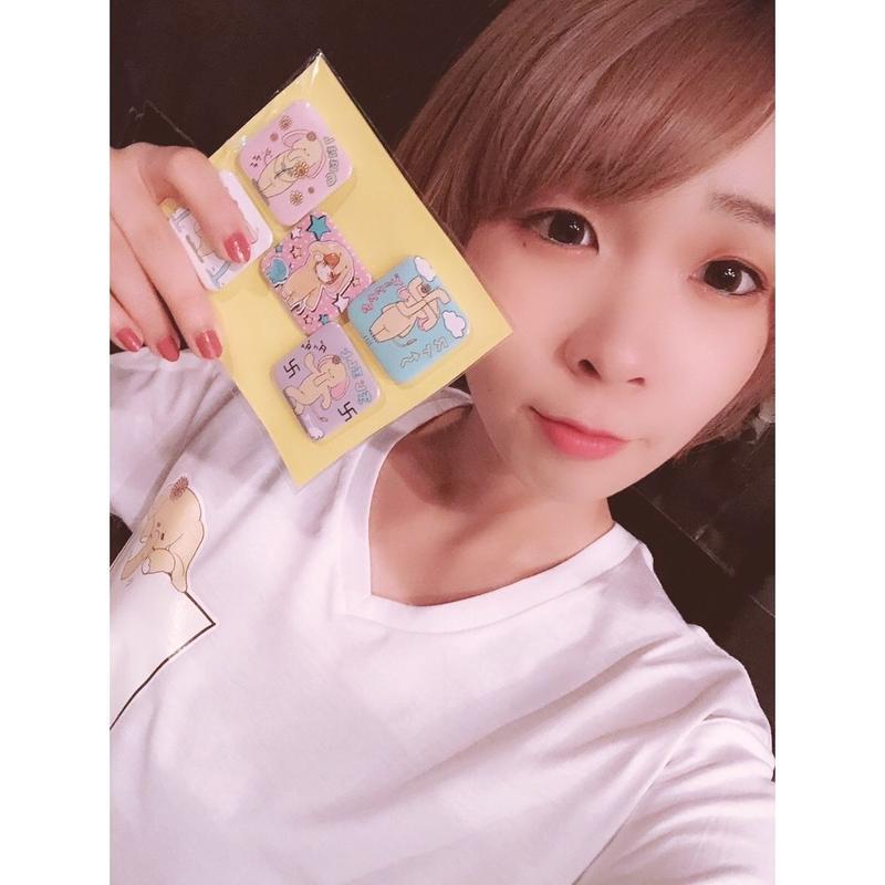 【長島奈美】オリジナル缶バッジセット