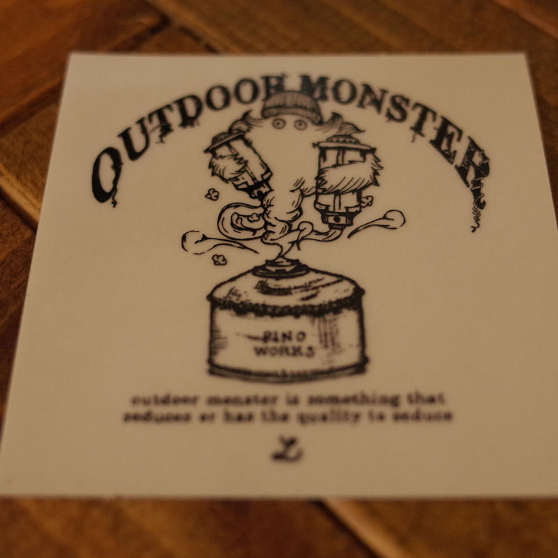 OUTDOOR  MONSTER クリアステッカー