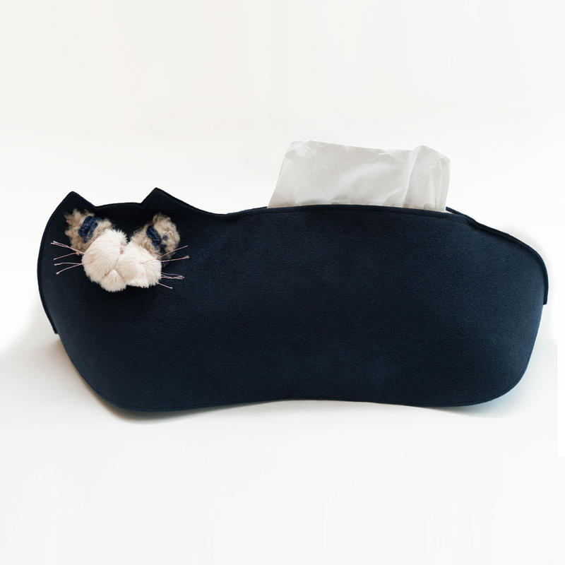どら猫のティッシュケース(受注生産)【送料無料】