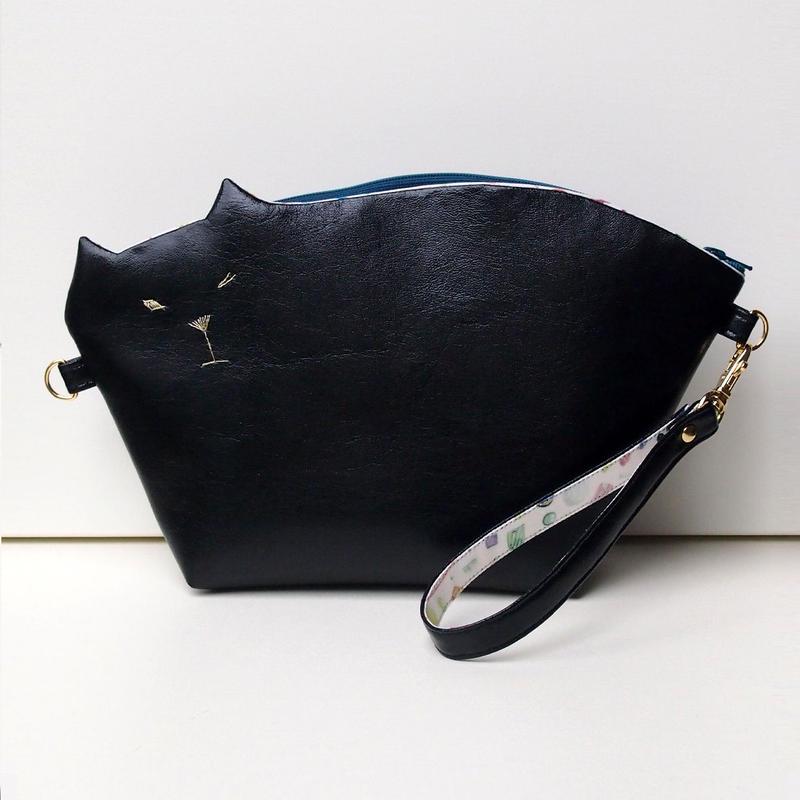 猫のクラッチポシェット2way010号(受注生産)【送料無料】