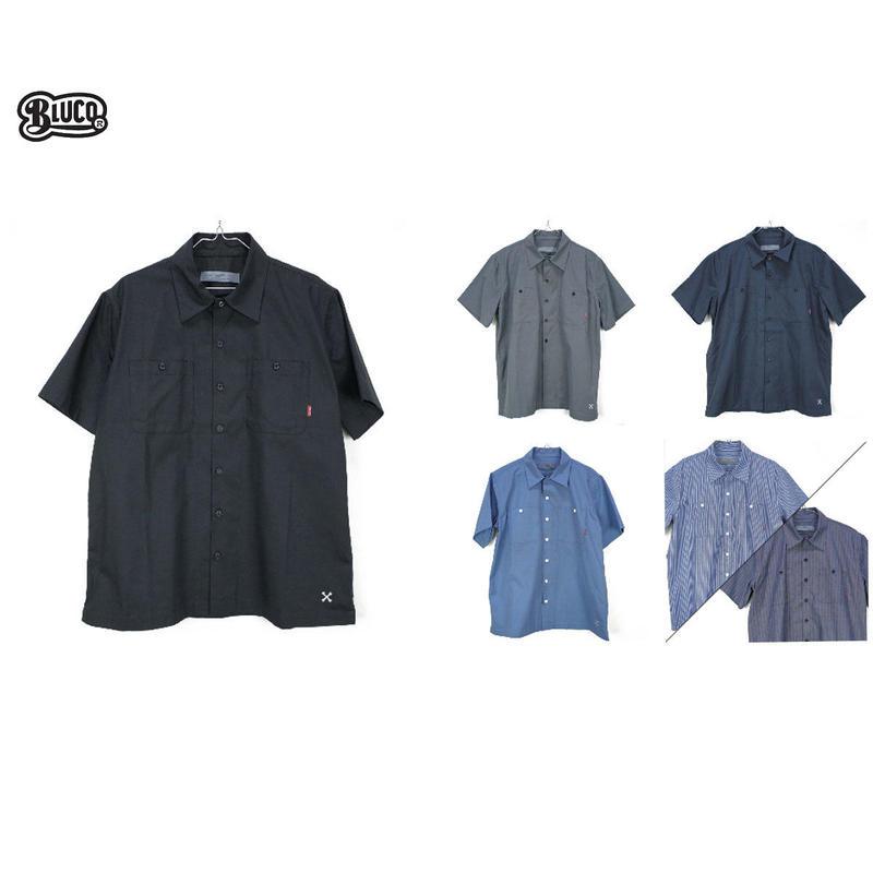 BLUCO(ブルコ)OL-108 STD WORK SHIRTS L/S ブラック/ネイビー/サックス/ブルーST/ネイビーST