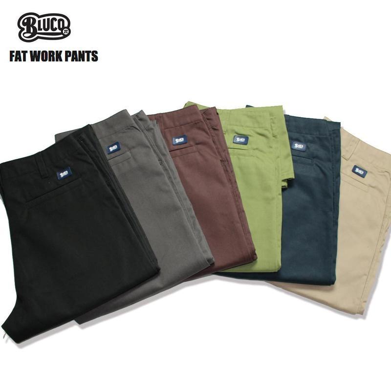 BLUCO(ブルコ)OL-002 FAT WORK PANTS 全6色(ベージュ・ブラック・ブラウン・グレー・ネイビー・オリーブ)