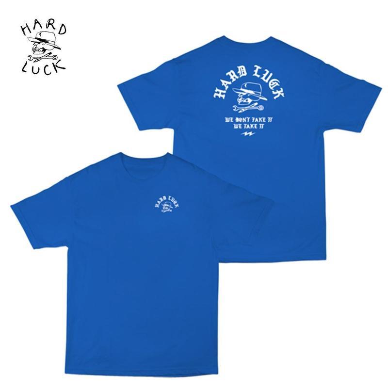 HARD LUCK(ハードラック) TAKE IT S/S TEE ブルー
