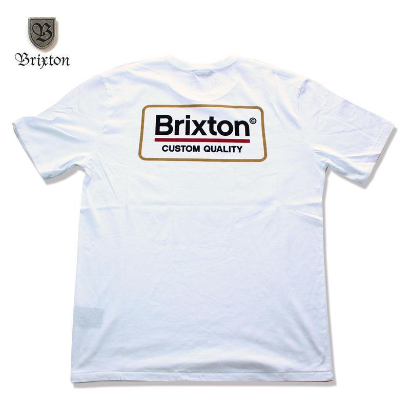 BRIXTON(ブリクストン) PALMER S/S TEE ホワイト