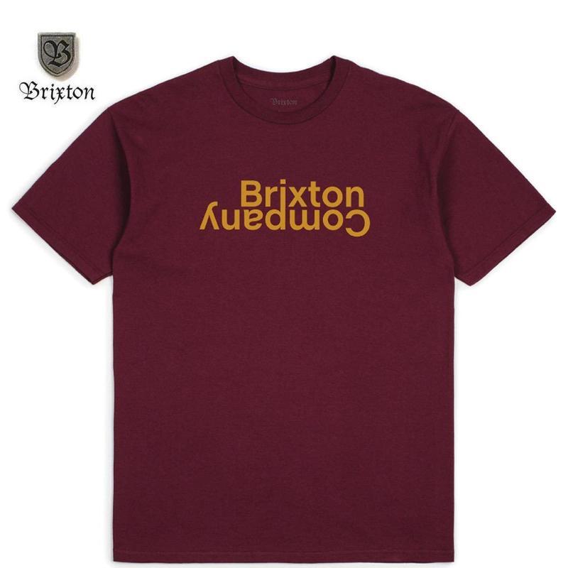 BRIXTON(ブリクストン) REVERT II S/S STT バーガンディ