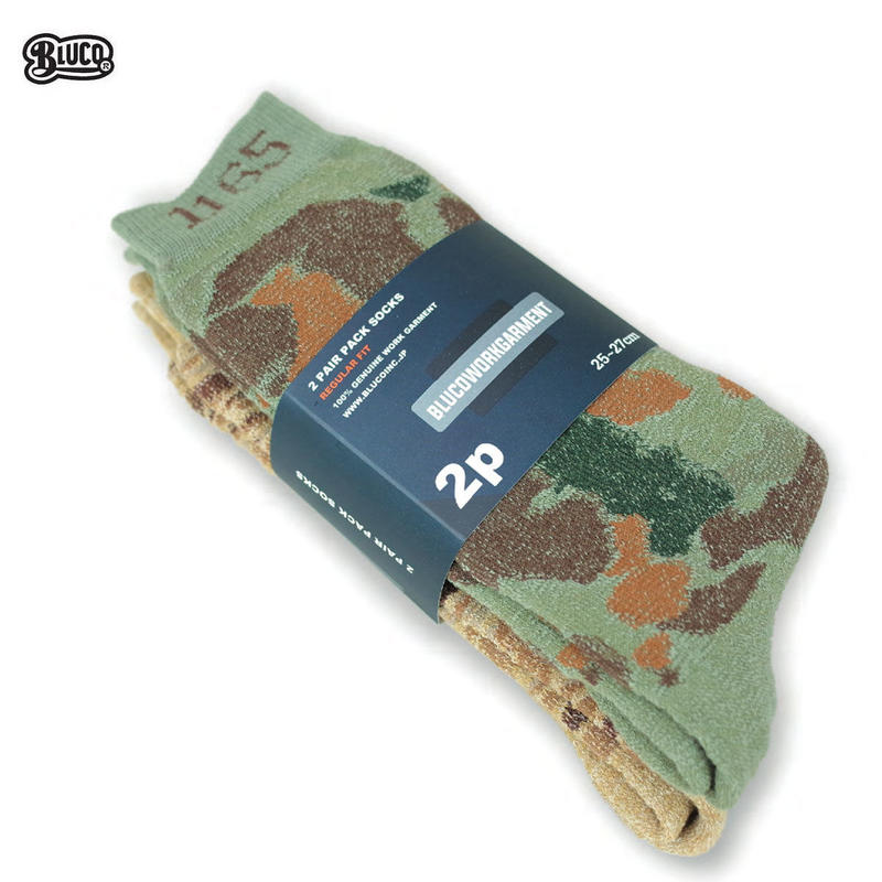BLUCO(ブルコ) OL-303 2PACK PILE SOCKS (H.CAMO / T.CAMO)