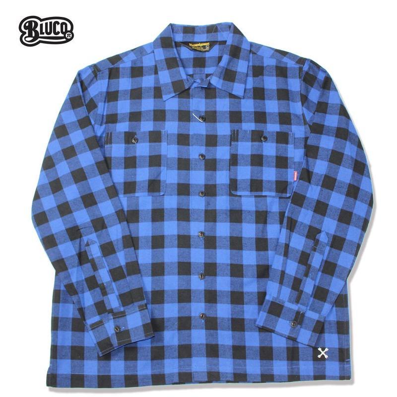 BLUCO(ブルコ)OL-048-018 BUFFALO CHECK SHIRTS ブルー