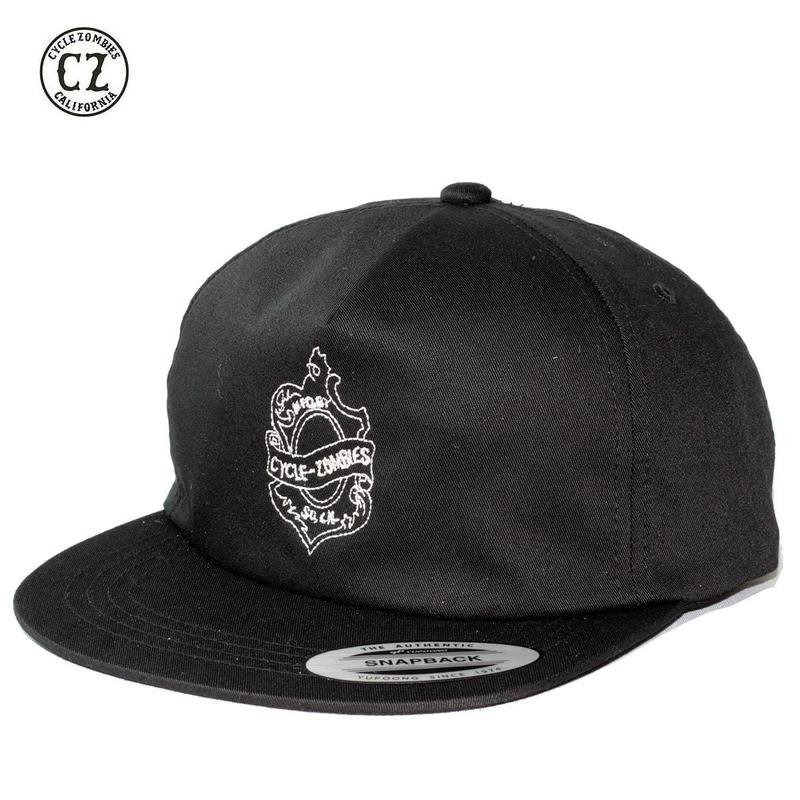 Cycle Zombies(サイクルゾンビーズ)OAKLEAF Premium Unconstructed Twill 5 Panel Snapback Black