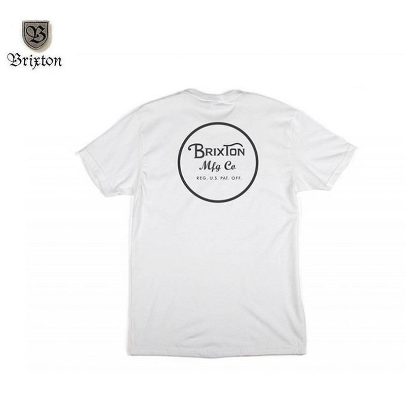 BRIXTON(ブリクストン) WHEELER S/S TEE ホワイト