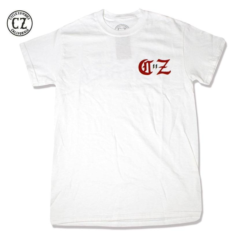 Cycle Zombies(サイクルゾンビーズ)BOLTZ Standard S/S T-Shirt ホワイト