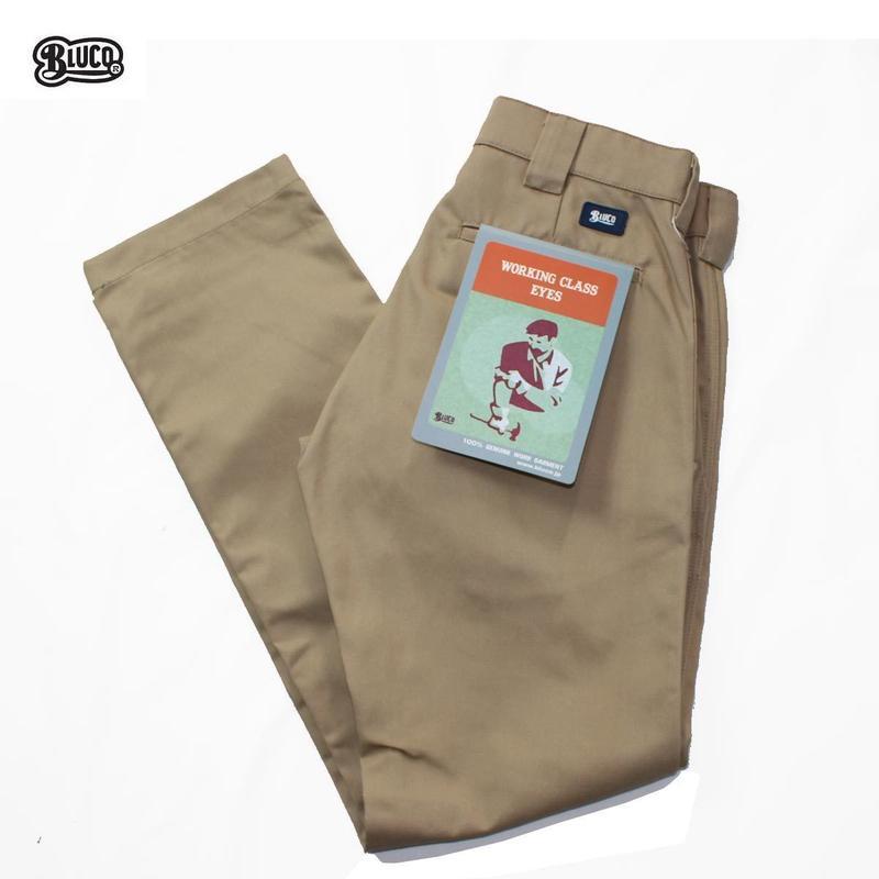 BLUCO(ブルコ)OL-063 WORK PANTS SLIM ベージュ
