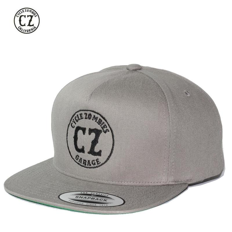 Cycle Zombies(サイクルゾンビーズ)GARAGE Premium Twill Snapback Hat Gray