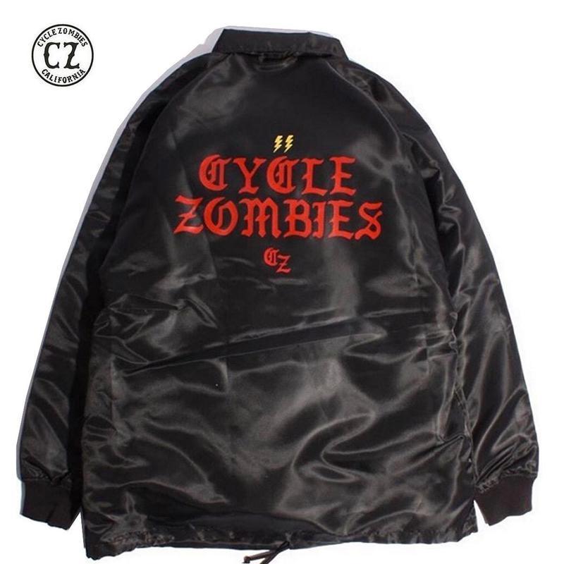 Cycle Zombies(サイクルゾンビーズ)BOLTZ Premium Coaches Jacket Black
