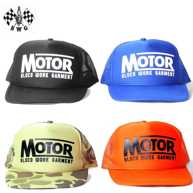 "B.W.G ""MOTO MESH CAP""(ブラック/オレンジ/ブルー/カモ)"