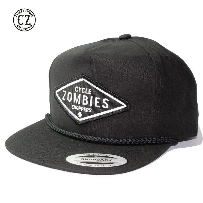 Cycle Zombies(サイクルゾンビーズ) DIY Premium Poplin Golf Snapback Black