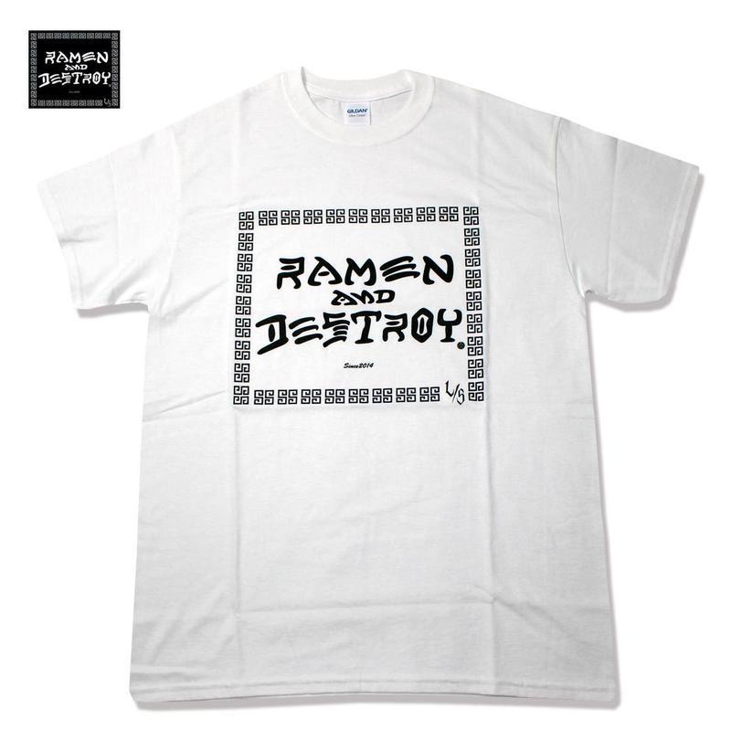 RAMEN&DESTROY Tシャツ ホワイト