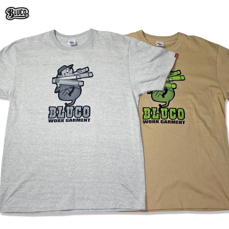 BLUCO(ブルコ)OL-810 SUPER HEAVY WEIGHT TEE'S -character-全3色(ホワイト・グレー・キャメル)