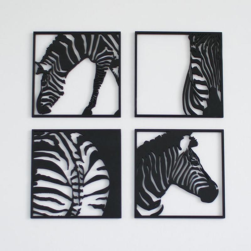 MDF WALL ART / zebra