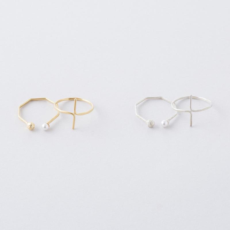 タンブルカット2setリング  /  Tumble cut 2set Ring