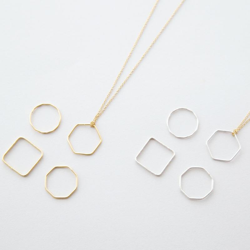 キカネックレス・ピンキーリングセット /  Geometry type Pinky ring