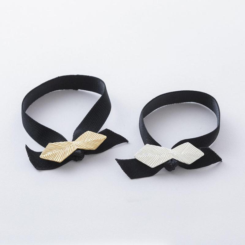 キカラインプレートポニー・ダイヤリボン  /  Plate of the hairline processed ribbon type Hair elastic