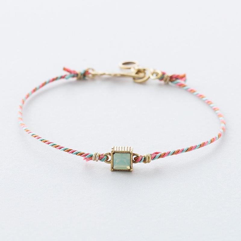 くみひも×スワロブレスレット /  Kumihimo with Swarovski Bracelet