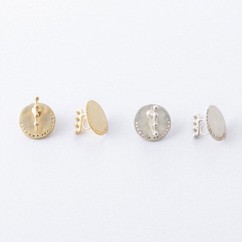 ドットラインイヤクリップ / Dot line Earring Clip