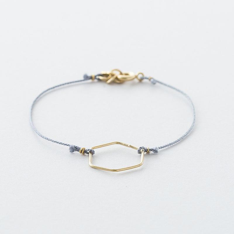 キカ×くみひもブレスレット /  Kumihimo with Geometry ring Bracelet