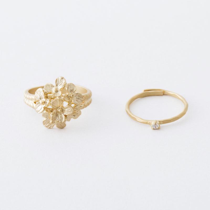 ブーケ2setリング  /  Bouquet 2set Ring