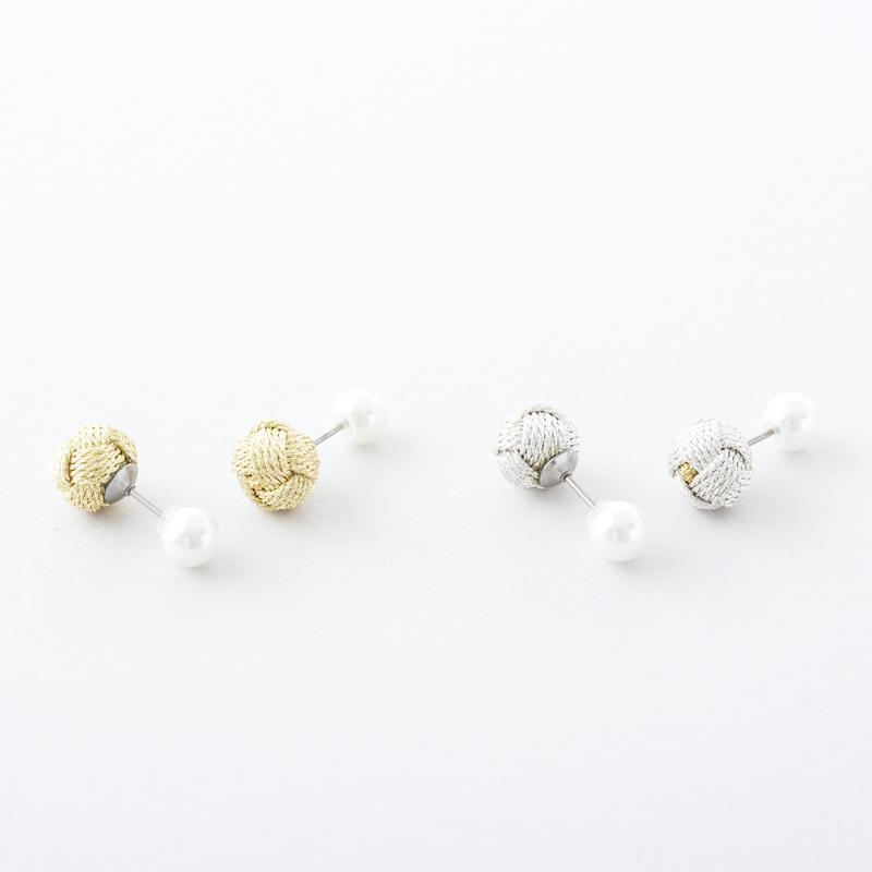 おだまきダブルフェイスピアス  /   Odamaki & Pearl shell Double Face Pierce