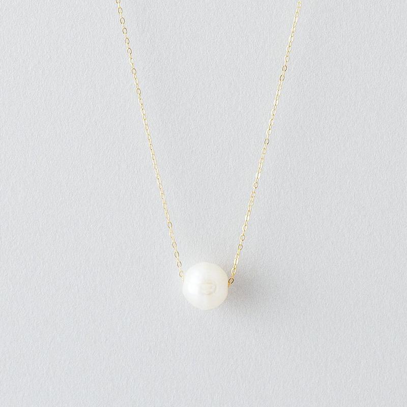 カット淡水パールネックレス /  Cut freshwater Pearl Necklace